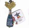 New Year's Eve Champagne Pin